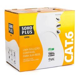 Cabo de Rede Utp Soho Plus Cat6 Caixa Com 305 Metros - Azul - Furukawa