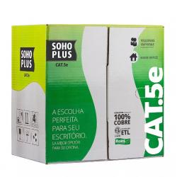 Cabo de Rede Utp Soho Plus Cat5e Caixa Com 305 Metros - Azul - Furukawa