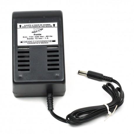 Fonte de Transformador 12VAC(alternada) - 1 Amper. - MS
