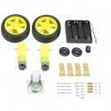Kit Chassi Robo 2wd (2 rodas) robótica - Arduino