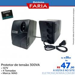Protetor de tensão - 300VA - 127v - MAG