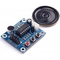 Modulo Gravador De Voz E Player Isd1820 C/ falante- Arduino
