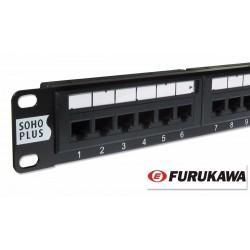Patch Panel FURUKAWA/SOHOPLUS Cat.5e T568A/B 24Portas
