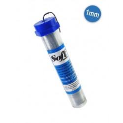 Solda em fio Soft 1.00mm - Carretel com 500g.