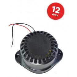 Sirene Piezoelétrica 12volts - 116db Preto/Branco - IPEC