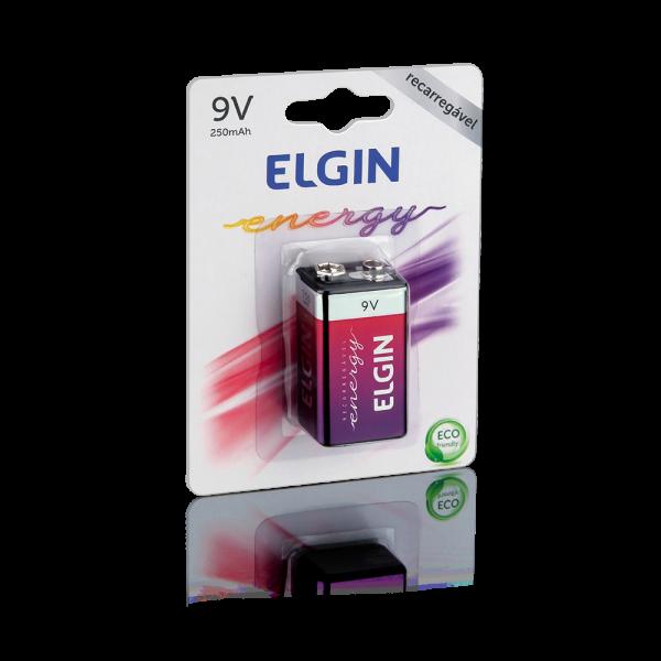 Bateria 9V RECARREGAVEL ELGIN 1000mah
