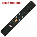 Controle Remoto TV LCD/LED SempToshiba C/Netflix e GloboPlay - L43S4900f / 49P2US / U55C7006 - Confira os modelos!