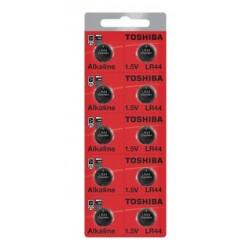 Bateria LR44 1,5V Toshiba - Cartela com 10un.