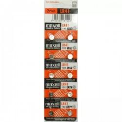 Bateria LR41 1,5V Maxell - Cartela com 10un.
