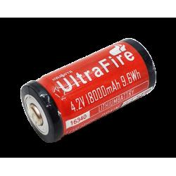 Bateria 4,2v 18000mah 9.6Wh Lithium - Ultra Fire