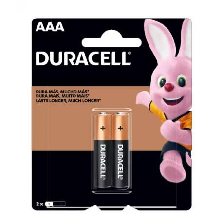 Pilha AAA (palito) alcalina Duracell (c/2 uni.)