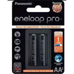 Pilha AA Recarregável Panasonic Eneloop Pro - 2.550Mah (c/2un.)