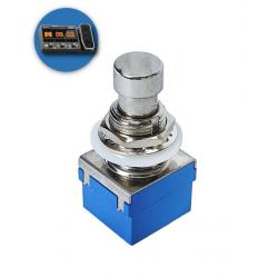 Chave de efeito para Pedaleira - 6 terminais - Acionador em metal