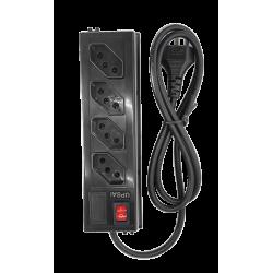 Filtro de Linha 4 Tomadas - Com chave e fusível - 10 Ampére - UPSAI