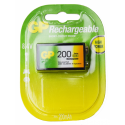 Bateria 9V Recarregável 200mah GP