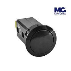 Chave Push Button N.A (Pulso) Moldura Redonda - Liga/Desliga - MARGIRIUS 31.127