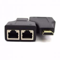 Extensor HDMI (2pcs) via Cabo de Rede (Até 20m)
