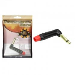 Plug P10 Mono Performance Sound 90 Graus Black Series Vermelho