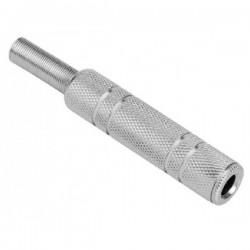 Plug P10 Femea MONO OU ESTEREO P/ Cabo (metal)