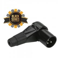 XLR Canon Macho em 90° Profissional - Série Black