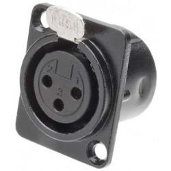 XLR Canon Femea de metal com Trava para Painel