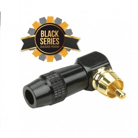 PLUG RCA MACHO 90° BLACK SERIES PROFISSIONAL