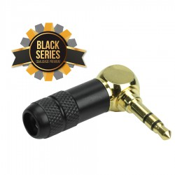 PLUG P2 STEREO 90º METAL BLACK-SERIES