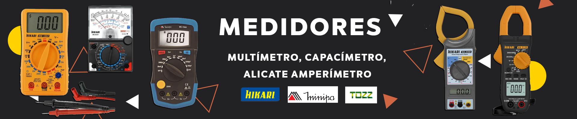 Multímetro, Capacímetro, Alicate Amperímetro