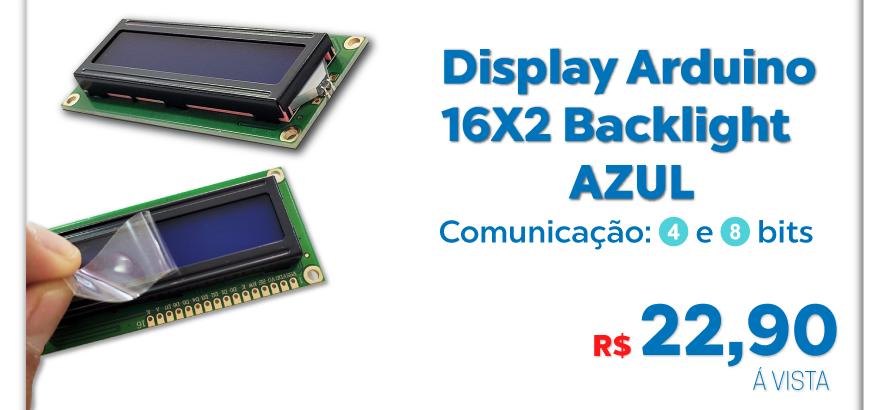Display Arduino 16x2 backlight Azul